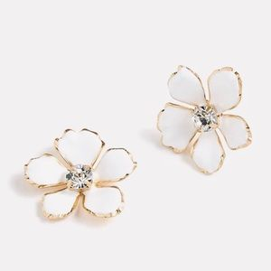 J.Crew Enamel Pansie Earrings